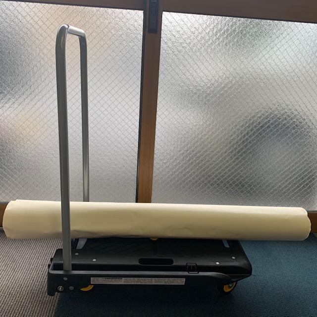 「音の静かな台車 ミニ HI10-CA01 」は長い荷物も積める
