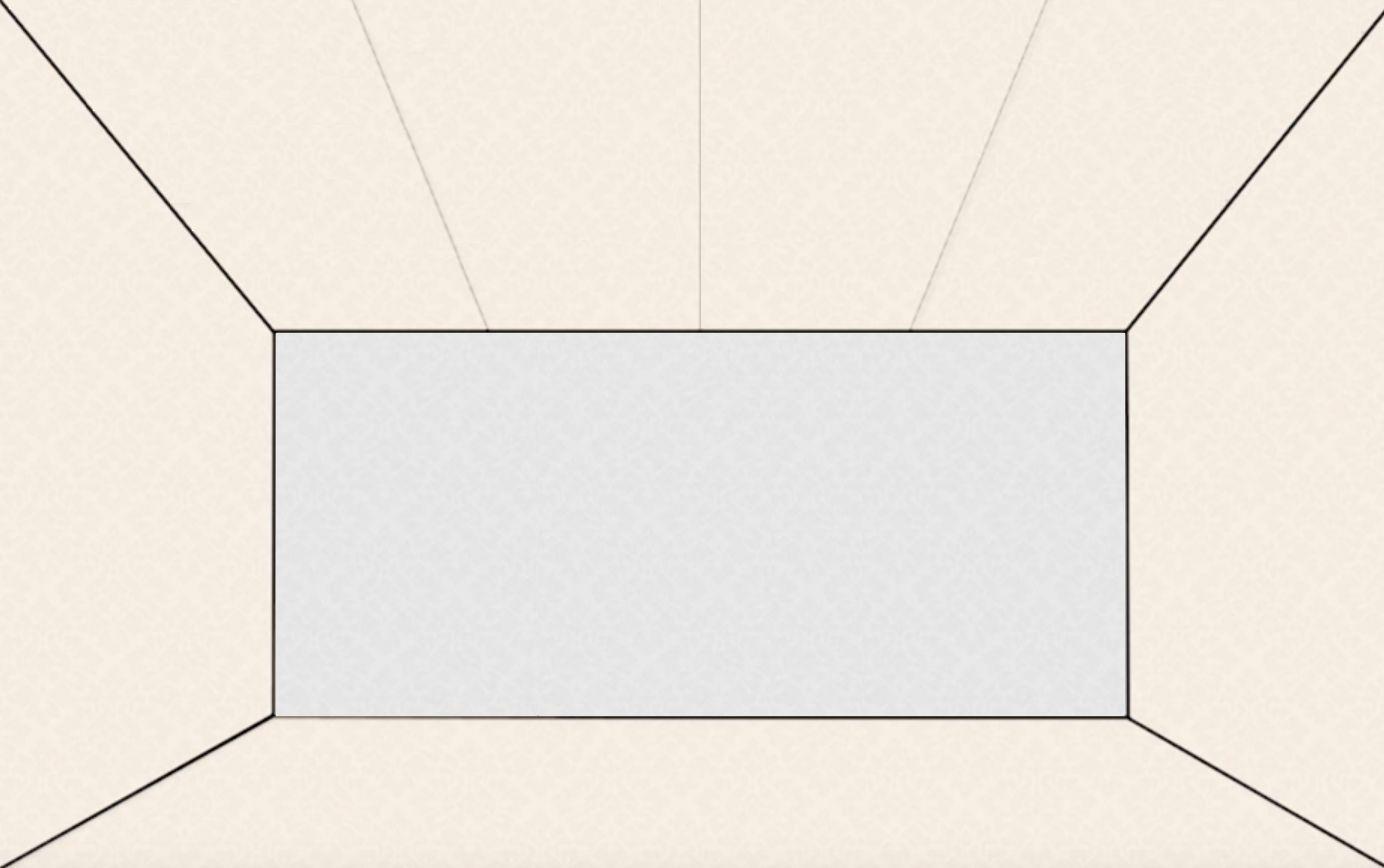 天井の壁紙を均等割りした参考図