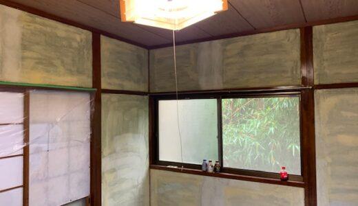 【施工編】和室のじゅらく・砂壁を剥がしてクロスを貼る工事をしました
